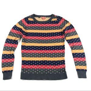 ModCloth Crewneck Sweater Sz Small Retro Stripes